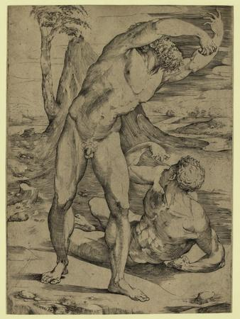 Two Nude Men: One Standing, One Reclining, Between 1500 and 1551