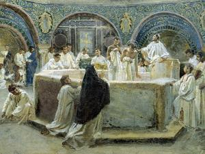 Baptism of St Augustine, 1875-1878 by Domenico Bruschi