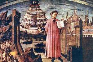 Dante and His Poem the 'Divine Comedy, 1465 by Domenico di Michelino