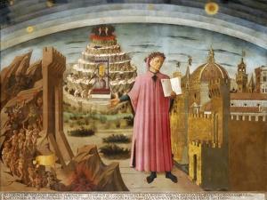 Dante and the Divine Comedy' (The Comedy Illuminating Florenc), 1464-1465 by Domenico di Michelino