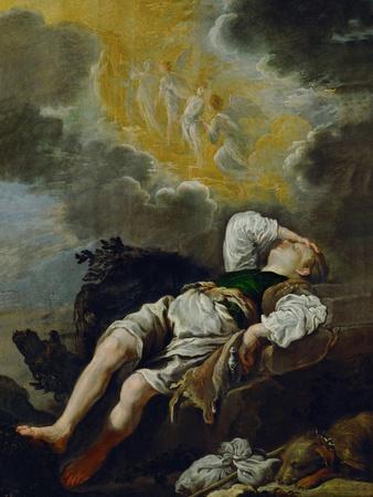 Jacobs dream, around 1620