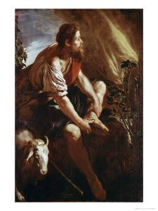 Moses Before a Burning Bush by Domenico Fetti