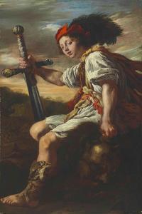 David with the Head of Goliath, c.1620 by Domenico Fetti or Feti