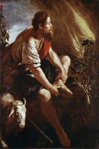 Moses before a Burning Bush by Domenico Fetti or Feti