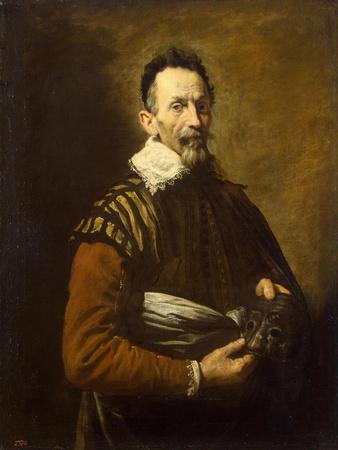 Portrait of an actor, 1620-1622