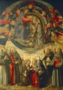 Coronation of the Virgin, 1486 by Domenico Ghirlandaio