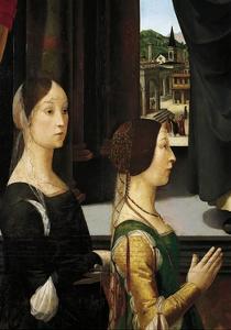 Donors Violante Bentivoglio and Elisabetta Aldobrandini by Domenico Ghirlandaio