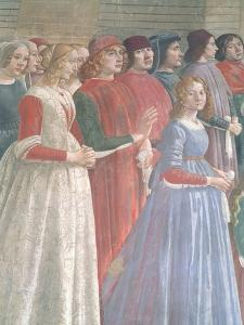 Florentine Onlookers, from the Cycle of St. Francis, Sassetti Chapel, 1483 by Domenico Ghirlandaio