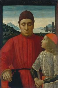Francesco Sassetti and His Son Teodoro, c.1488 by Domenico Ghirlandaio
