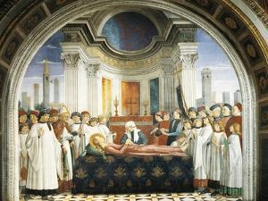 Funeral of St. Fina, 1475 by Domenico Ghirlandaio