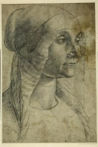 Head of a Woman Wearing a Coif by Domenico Ghirlandaio