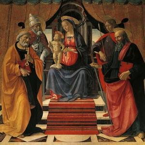Holy Conversation by Domenico Ghirlandaio