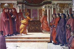 Italy, Florence, Santa Maria Novella, Main Chapel or Tornabuoni Chapel by Domenico Ghirlandaio