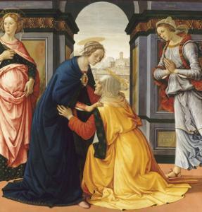 La Visitation entre Marie-Jacobie et Marie-Salomé by Domenico Ghirlandaio