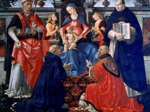 Madonna and Child Enthroned with the Saints, 1483 by Domenico Ghirlandaio