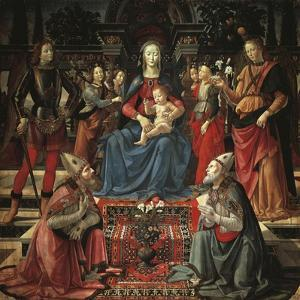 Madonna and Child Enthroned by Domenico Ghirlandaio