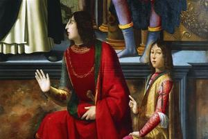 Pandolfo IV Malatesta and Carlo Malatesta by Domenico Ghirlandaio