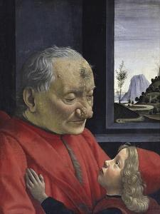 Portrait of an Old Man and His Grandson by Domenico Ghirlandaio