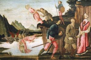 The Capture and Martyrdom of Pope Clement, Detail from Predella of Sacred Conversation by Domenico Ghirlandaio