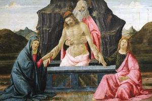 The Pieta, Detail from Predella of Sacred Conversation by Domenico Ghirlandaio