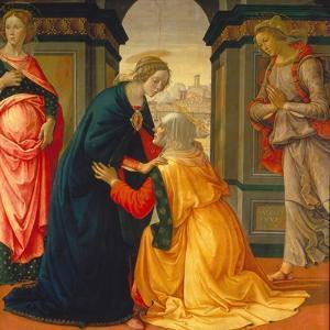 Visitation, with Maria Jakobaea and Maria Salome, 1491 by Domenico Ghirlandaio