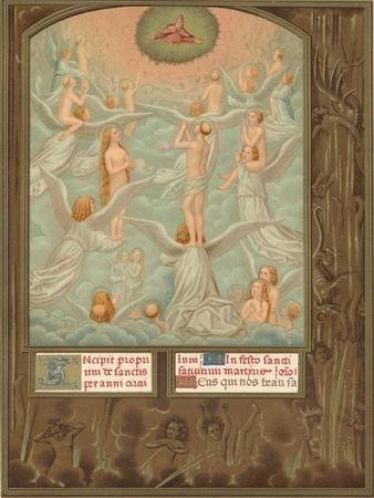 Angels Present to God the Souls of the Newly Elected, Early 16th Century