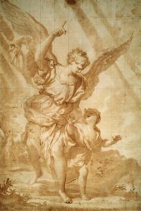 Guardian Angel, 17th Century by Domenico Piola