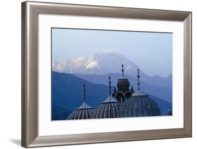 Domes of Chitral Mosque with Trich Mir Mountain Peak in Background-Design Pics Inc-Framed Photographic Print