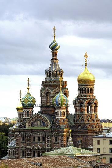 Domes of Church of the Saviour on Spilled Blood, St. Petersburg, Russia-Gavin Hellier-Photographic Print