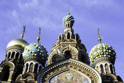 Domes of Church of the Saviour on Spilled Blood, UNESCO World Heritage Site, St. Petersburg, Russia-Gavin Hellier-Photographic Print