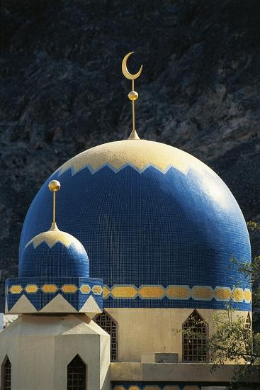 Domes of Mosque of Kalbooh Near Muscat, Oman--Photographic Print