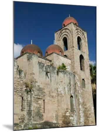 Domes of the San Giovanni degli Eremiti Church, Palermo, Sicily, Italy-Walter Bibikow-Mounted Photographic Print