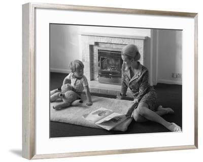 Domestic Fire Place Advertisment for the Ncb, 1967-Michael Walters-Framed Photographic Print