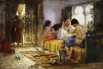 Domestic Interior Scene-Frederick Arthur Bridgman-Giclee Print