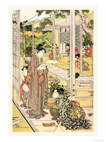 Domestic Scene-Kitagawa Utamaro-Art Print