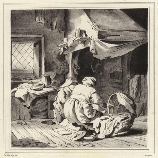 Domestic Scene-Cornelis Bega-Giclee Print