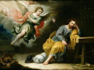 The Dream of St.Joseph by Domingo Martinez