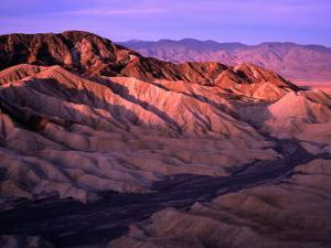 Folds of Land Viewed from Zabriskie Point at Sunrise, Nevada by Dominic Bonuccelli