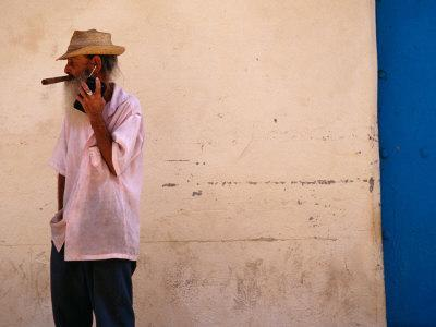 Old Man with Transistor Radio and Cigar, Havana, Havana, Cuba