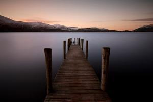 Ashness Landing Pier, Derwentwater, Lake District, UK by Dominic Byrne