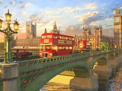 Westminster Bridge Buses by Dominic Davison