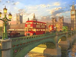 Westminster Bridge Buses by Dominic Davison