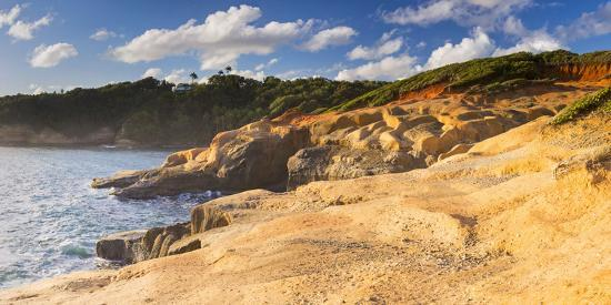 Dominica, Calibishie. the Red Rocks at Pointe Baptiste.-Nick Ledger-Photographic Print