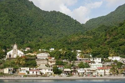 Dominica, Roseau, View of Villages South of Roseau on the Green Hills-Anthony Asael-Photographic Print