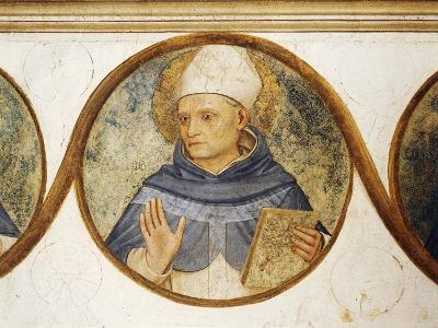 Dominican Order Genealogical Tree with Portrait of St. Albert, Detail from Crucifixion with Saints-Fra Angelico-Giclee Print