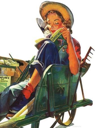 """Gardener in Wheelbarrow,"" May 10, 1941"
