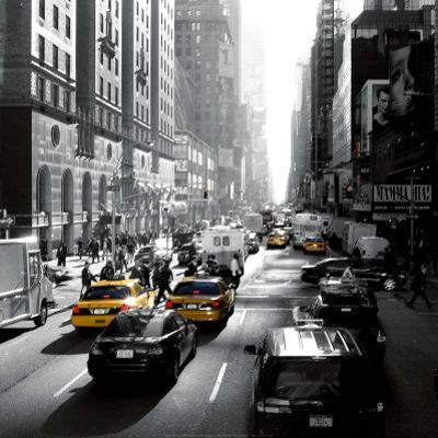 Sunset on Broadway, New York by Dominique Obadia