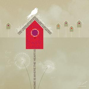 Bird House - Ivory by Dominique Vari