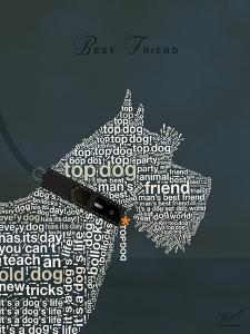 Scottish Terrier Best Friend by Dominique Vari
