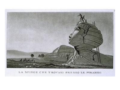 The Sphinx at Giza, from 'Voyage en Egypte'